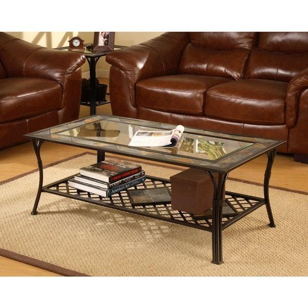 Slate And Glass Coffee Table For Sale: Slate Glass Steel Coffee Table Furniture End Modern Sofa