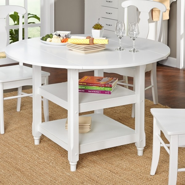 Simple Living Cottage White Round Dining Table 10783369