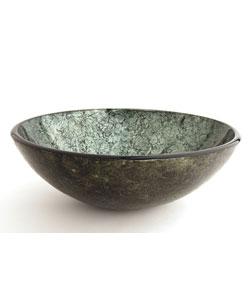 Green bathroom sinks overstock shopping the best - Green glass vessel bathroom sinks ...