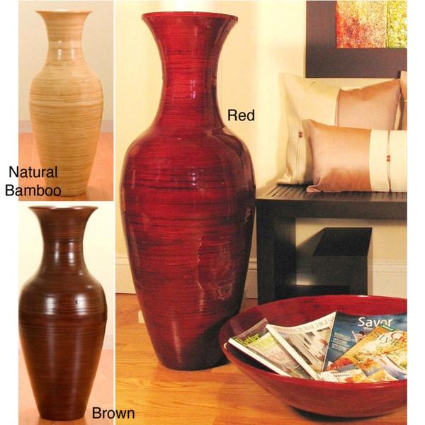 36 Inch Bamboo Tall Floor Vase 10797357 Overstock Com