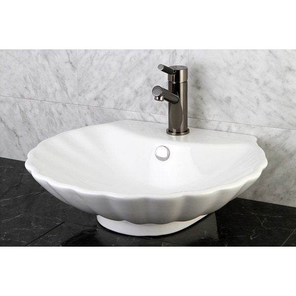 Oceana White China Vessel Sink 10802417 Overstock Com