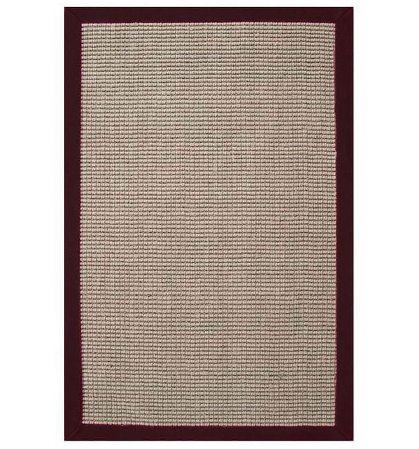 Hand-woven Sisal Cherry Brown Border Rug (8' X 10