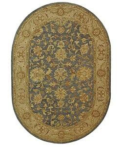 Handmade Antiquities Jewel Grey Blue Beige Wool Rug 4 6