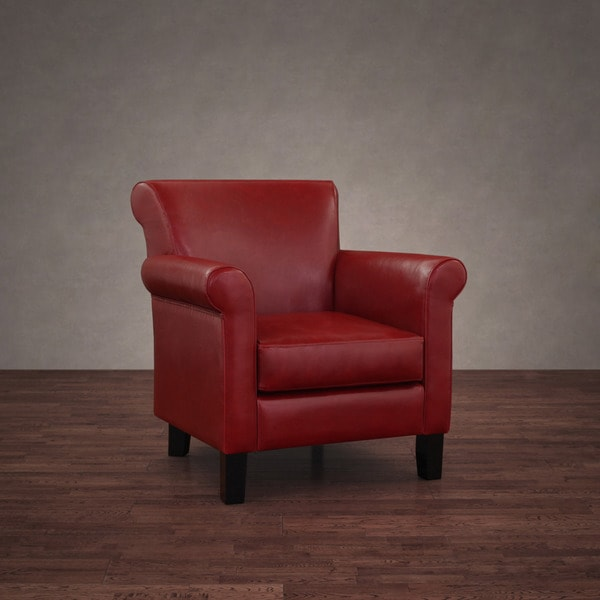 Cosmopolitan Burnt Red Leather Arm Chair 10823217