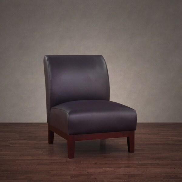 Cole Eggplant Leather Chair 10823212 Overstock Com