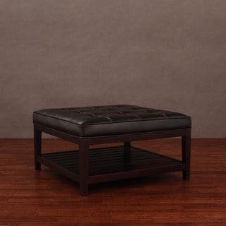 Terrific Low Price Hudson Dark Brown Leather Ottoman Ebra Ncnpc Chair Design For Home Ncnpcorg