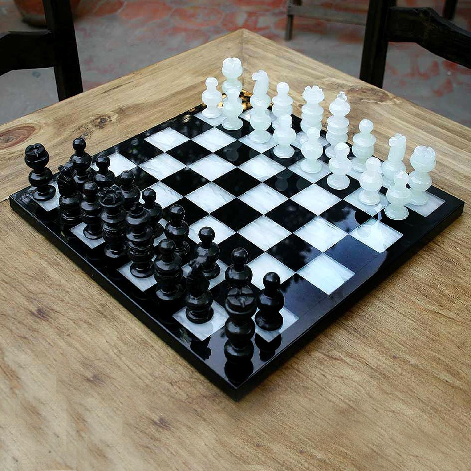 Onyx And Marble Chess Set Classic Mexico Overstock