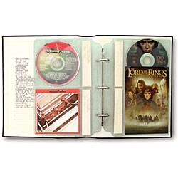Large cd dvd storage binder system pack of 6 11043470 for Case logic italia