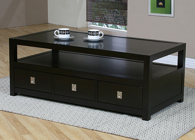 Norwich Three Drawer Coffee Table Overstock Shopping