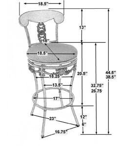 Braillen Extension Leg Adjustable Height Stool 11078562