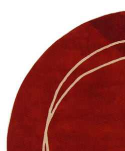 Safavieh Handmade Rodeo Drive Modern Abstract Red Ivory