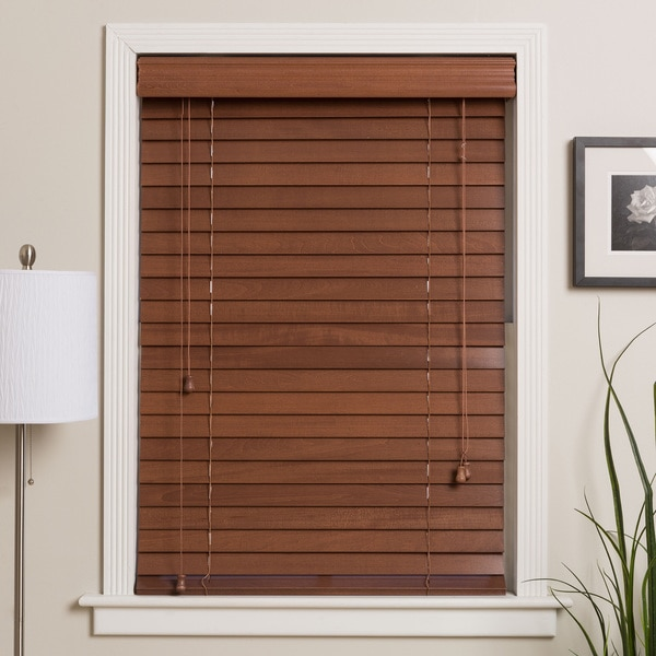 Arlo Blinds Customized 20-inch Real Wood Window Blinds