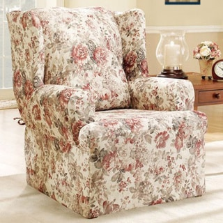 Sure Fit Chloe Floral Wing Chair Slipcover 11138076
