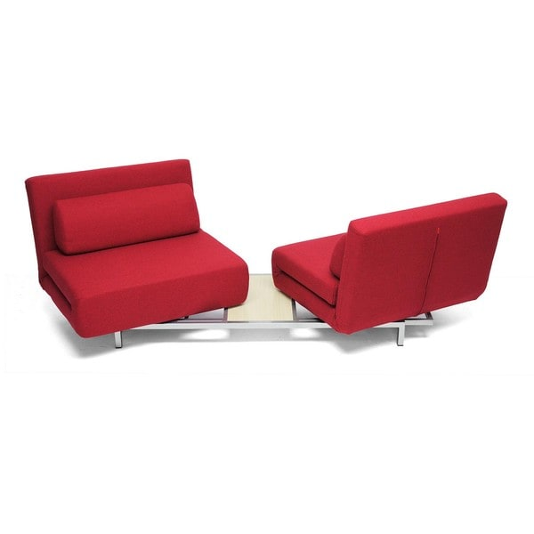 Anise Red Convertible Sofa Bed 11146316 Overstock Com