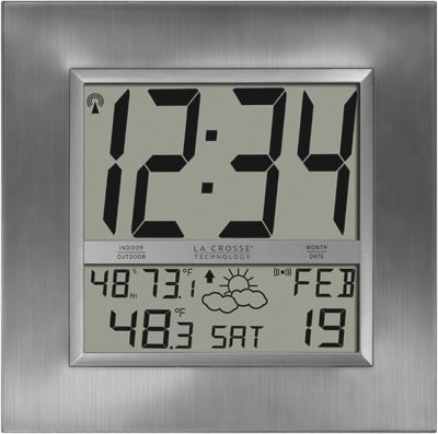 Lacrosse Weather Forecasting Atomic Digital Wall Clock