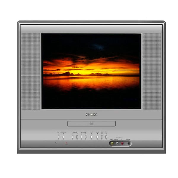 toshiba 14 inch flat screen tv dvd combo refurbished overstock shopping top rated. Black Bedroom Furniture Sets. Home Design Ideas