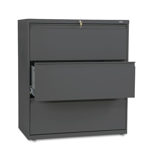 HON 800 Series 36-inch Wide 3-Drawer Lateral File Cabinet ...