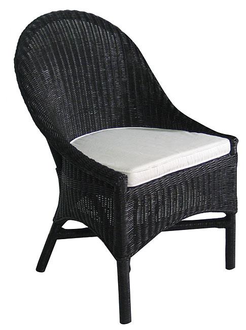 Casco Bay Black Wicker Dining Chair 11149426 Overstock