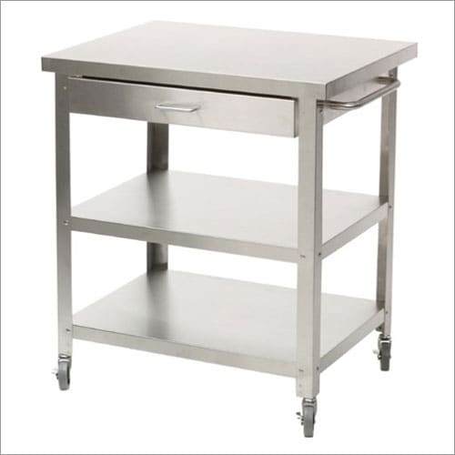 Stainless Kitchen Cart: Medium Stainless Steel Rolling Kitchen Cart