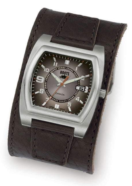 Good Watch Brands For Men >> Roots Point Break Men's Brown Dial Leather Strap Watch ...