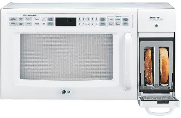 Large 1 2 Cubic Foot Combo Microwave Oven Toaster