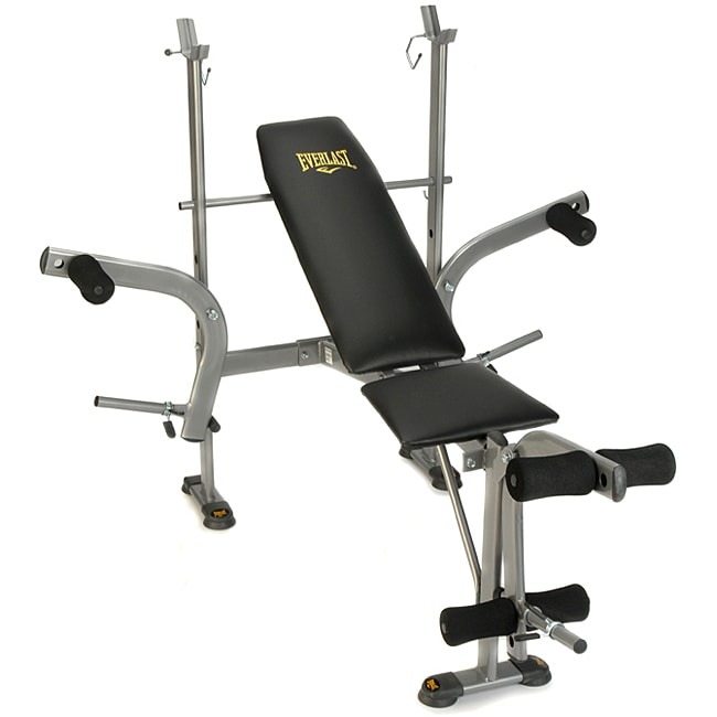 Everlast Standard Weight Bench With Leg Lift And Butterfly