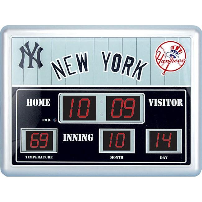 New York Yankees Scoreboard Clock - 11346462 - Overstock ...  Yankees
