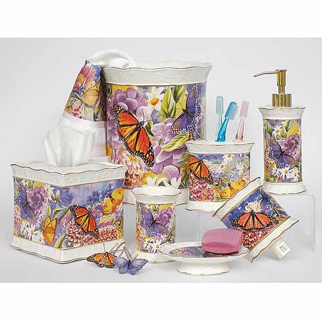 Butterfly Garden 6 Piece Bathroom Accessory Set 11358461