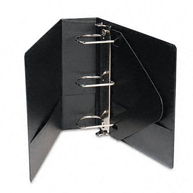 Basic Vinyl 4-inch D-ring Black Binder