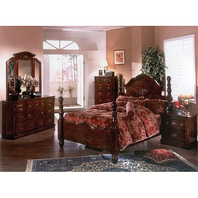 Cannonball Dark Pine 5 Piece King Bedroom Set 11408278