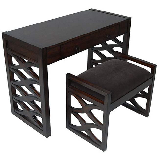 Waverly Desk And Bench 11418056 Overstock Com Shopping
