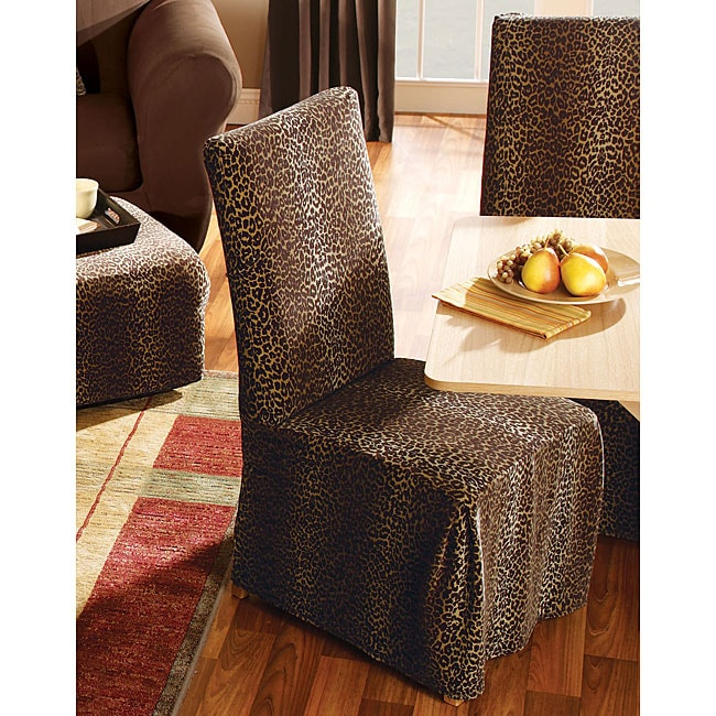 Leopard Dining Room Chair Slipcovers Set Of 2 11482523