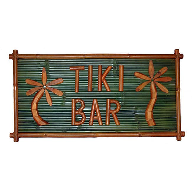 Large Bamboo 'Tiki Bar' Sign (Vietnam)