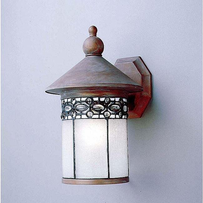 Tiffany Style Beaded Glass Outdoor Wall Light 11493145