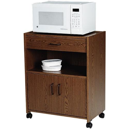 Microwave Cart, Medium Oak