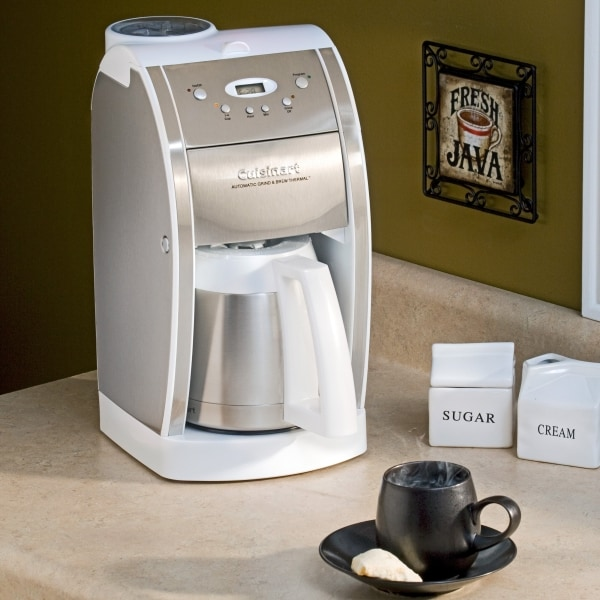 Cuisinart Dgb 600bcw White Grind And Brew Coffee Machine