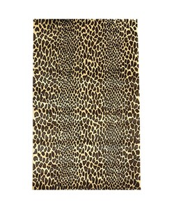 Hand Tufted Bagambari Leopard Print Wool Rug 5 X 8