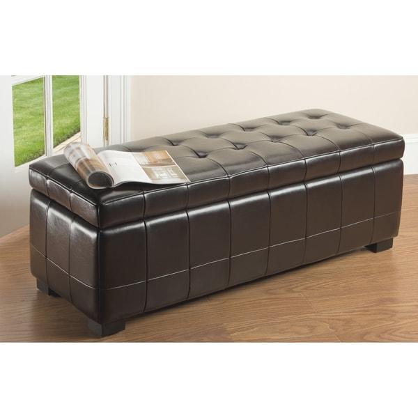 Safavieh Large Brown Manhattan Storage Bench 11180771
