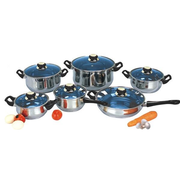 Kinetic Kitchen Basics  Pc Cookware Set Steel