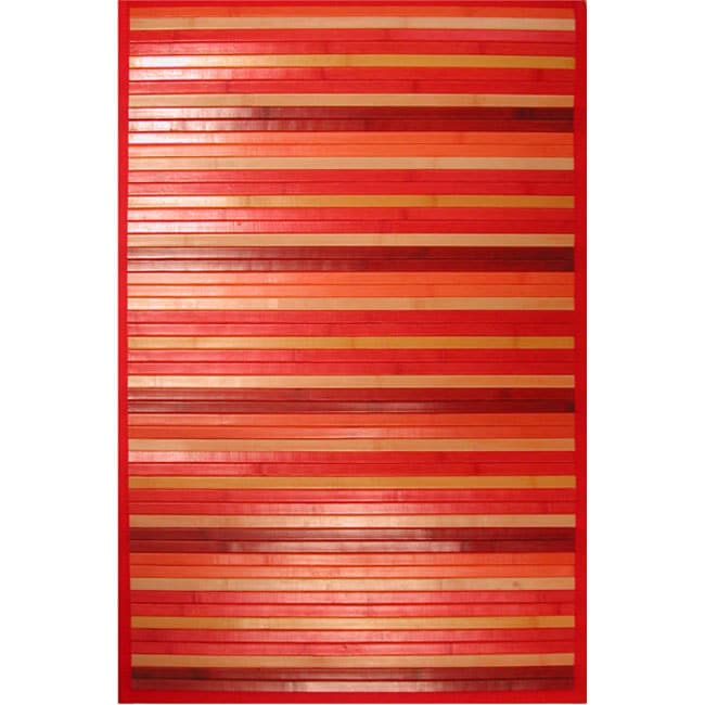 Red Bamboo Area Rug (4' X 6