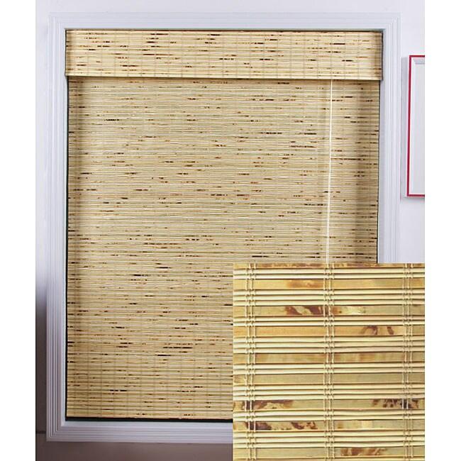 Petite Rustique Bamboo Roman Shade 70 In X 74 In