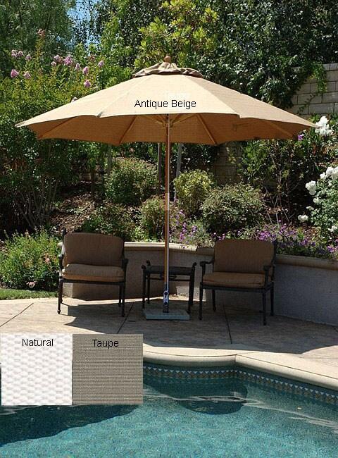 Lauren Amp Company Premium 9 Foot Round Patio Umbrella With