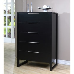 Napa 5 Drawer Black Chest Overstock Shopping Great