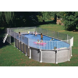 Above Ground End Deck For 18 X 33 Oval Pool 11204401
