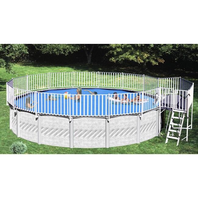 2 Piece Free Standing Aboveground Pool Deck 11204443