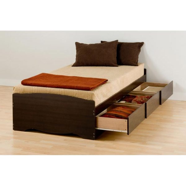 Espresso Twin Xl Mate S Platform Storage Bed With 3