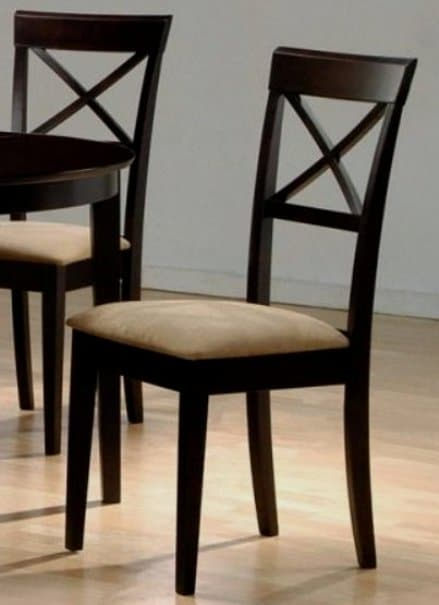 hardwood cross back dining chairs set of 2 11209163 shopping great deals. Black Bedroom Furniture Sets. Home Design Ideas