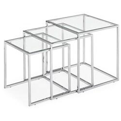 Fargo Glass Nesting Tables (Set of 3) - Thumbnail 0