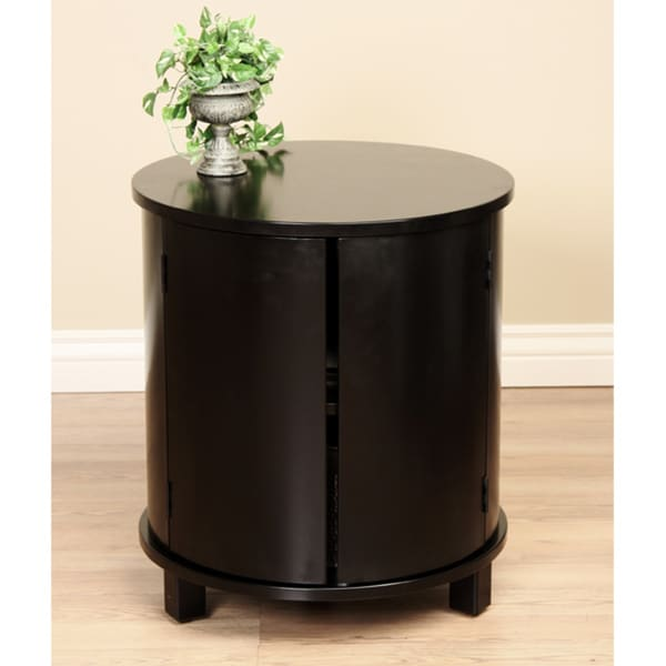 Round Two Door Side Table 11263115 Overstock Com