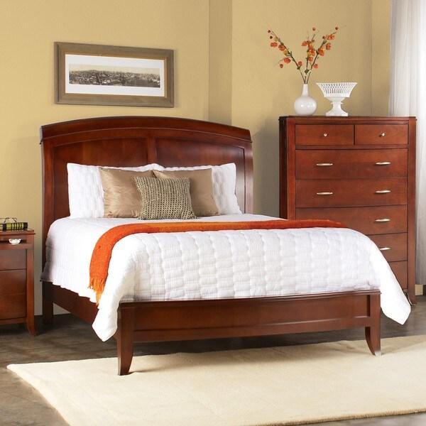 Split Panel Queen Size Wooden Sleigh Bed